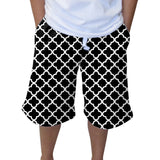 Quatrefoil Black Youth Knee Length Short