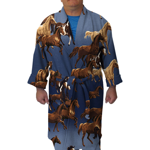 Wild Horse Youth And Adult Robe