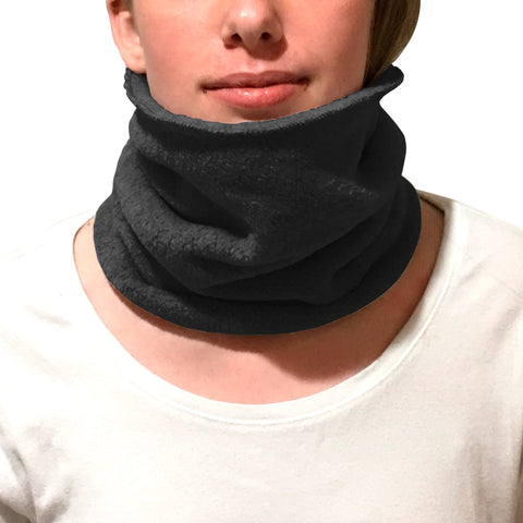 Solid Black Youth and Adult Neck Warmer