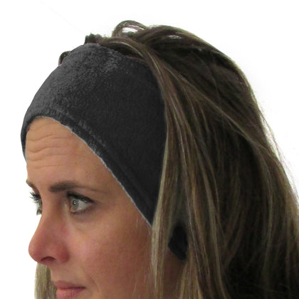 Solid Black Youth and Adult Head Band