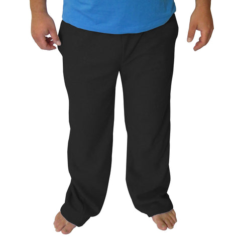 Solid Black Mens Adult Pant