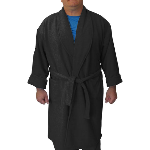 Solid Black Youth and Adult Robe