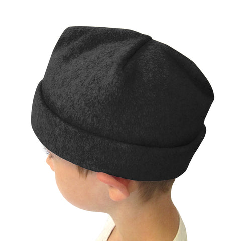 Solid Black Youth and Adult Hat