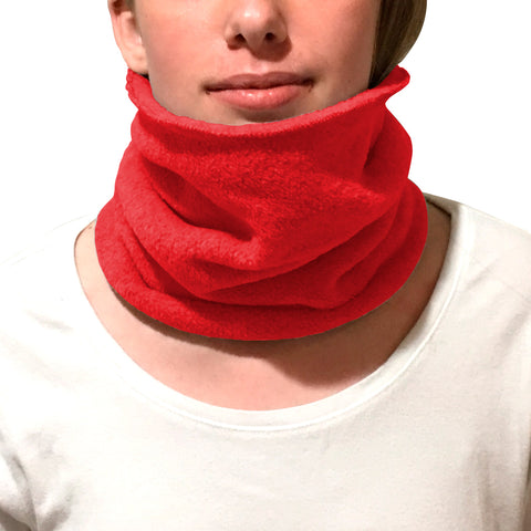 Solid Red Youth and Adult Neck Warmer