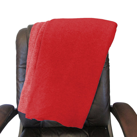 Solid Red Blanket - Double Sided