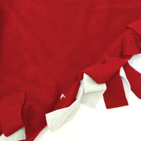 Solid Red Blanket Tie Kit