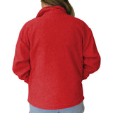 Solid Red Adult Collared Top