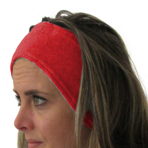 Solid Red Youth and Adult Head Band