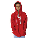 Solid Red Youth Hooded Top