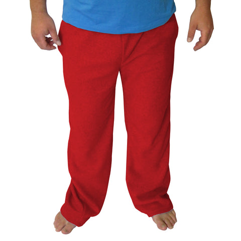 Solid Red Mens Adult Pant