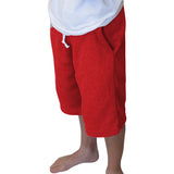 Solid Red Youth Knee Length Short