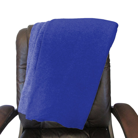 Solid Royal Blue Blanket - Double Sided