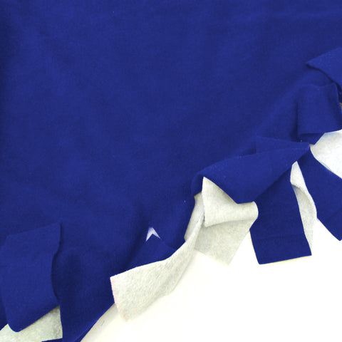 Solid Royal Blue Blanket Tie Kit