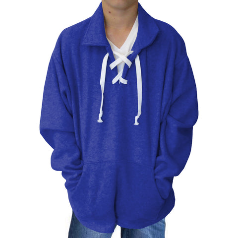 Solid Royal Blue Adult Collared Top