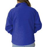 Solid Royal Blue Youth Collared Top