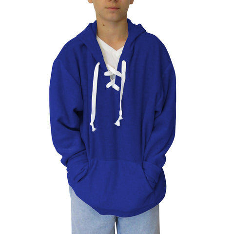 Solid Royal Blue Adult Hooded Top