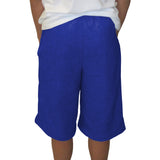 Solid Royal Blue Youth Knee Length Short