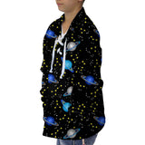 Space Saturn Youth Collared Top