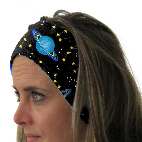 Space Saturn Youth and Adult Head Band