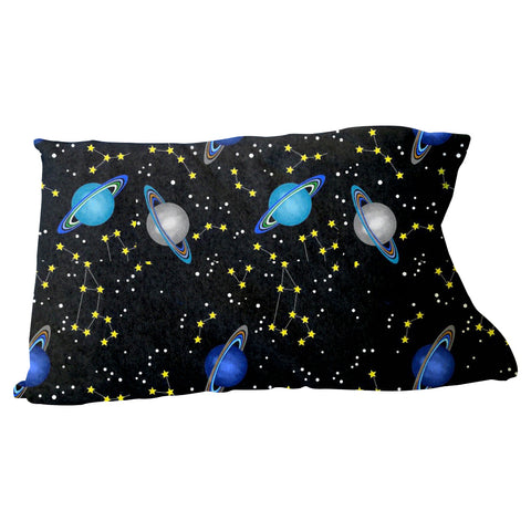 Space Saturn Pillow Case