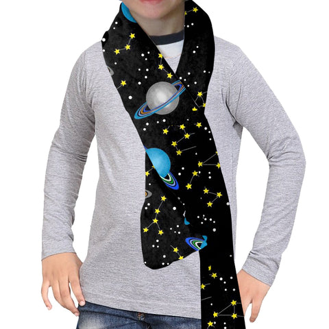 Space Saturn Scarf - Double Sided