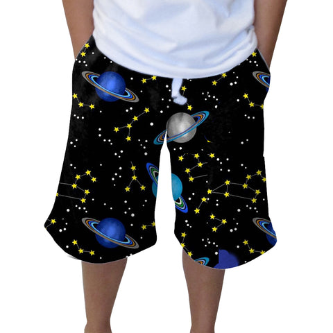 Space Saturn Youth Knee Length Short