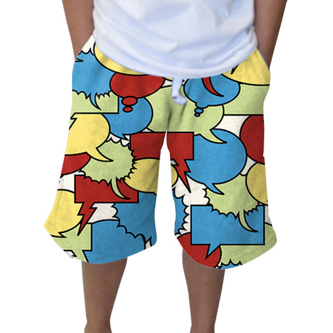 Thinking Bubbles Adult Knee Length Short