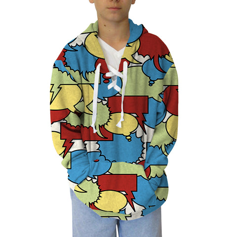Thinking Bubbles Youth Hooded Top