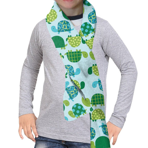 Turtle Time Scarf - Double Sided