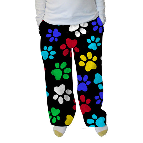 Multi Color Paws Womens Adult Pant