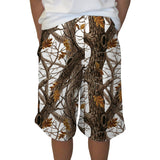 Winter Camo Adult Knee Length Short