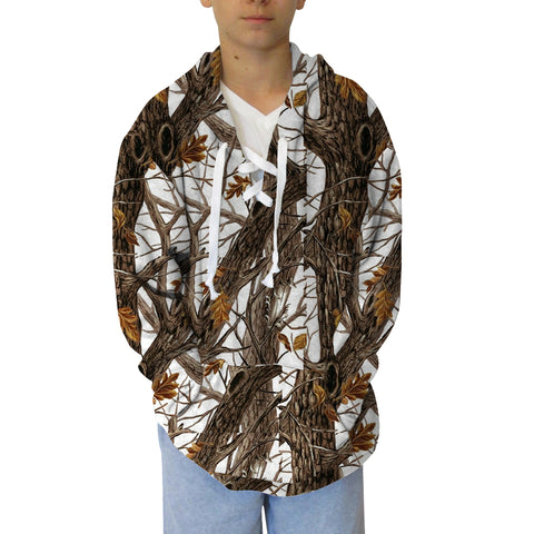 Winter Camo Youth Hooded Top