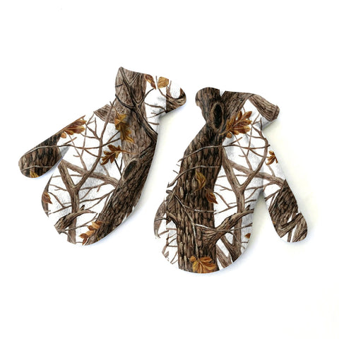 Winter Camo Mitten - Double Sided