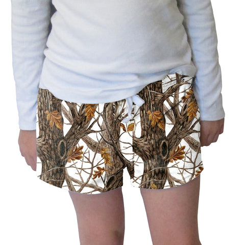 Winter Camo Womens Short Short
