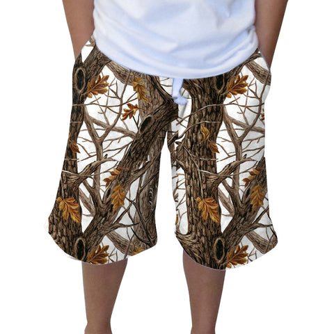 Winter Camo Youth Knee Length Short