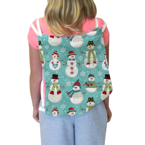 Winter Snowmen Back Sack