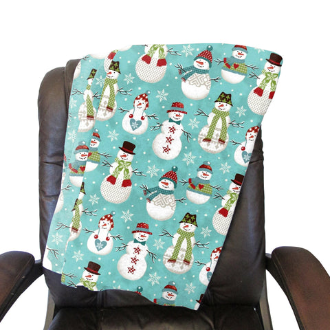 Winter Snowmen Blanket - Single Sided