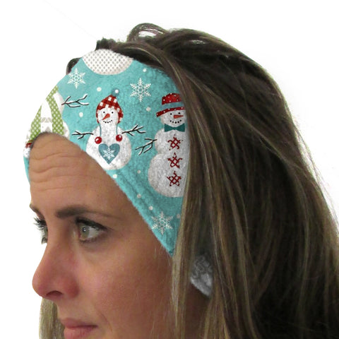 Winter Snowmen Youth and Adult Head Band