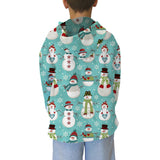 Winter Snowmen Adult Hooded Top