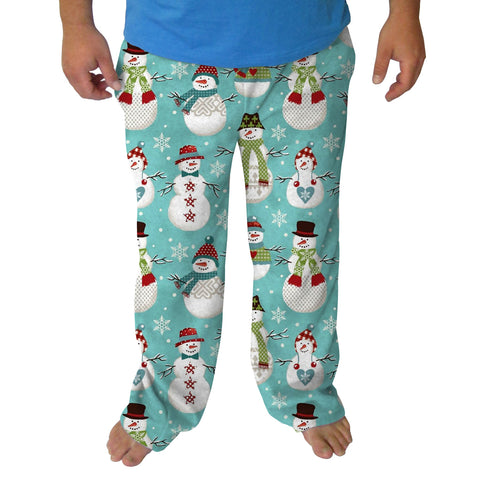 Winter Snowmen Mens Adult Pant