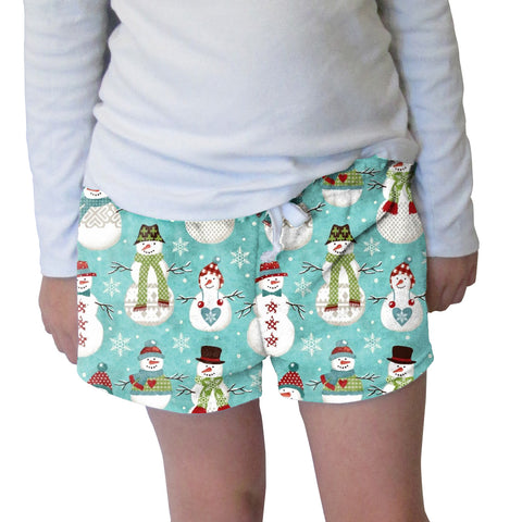 Winter Snowmen Womens Short Short