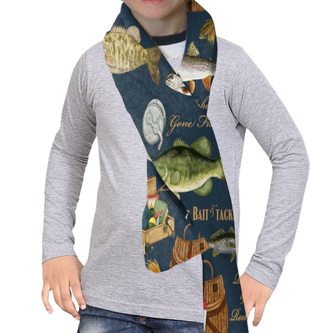 GONE FISHING SCARF - DOUBLE SIDED
