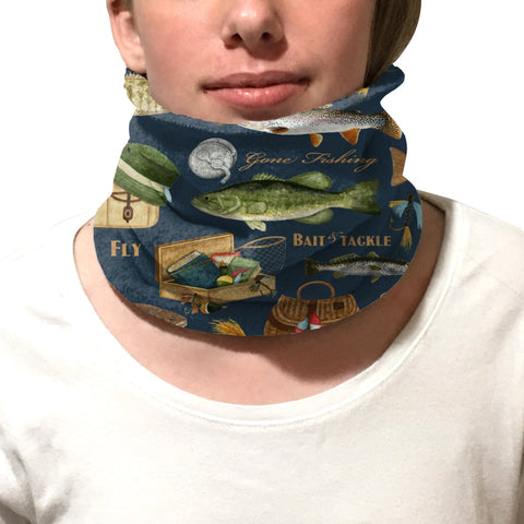Gone Fishing Youth and Adult Neck Warmer