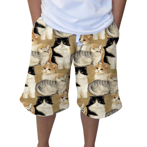 Cat Collage Knee Length Short