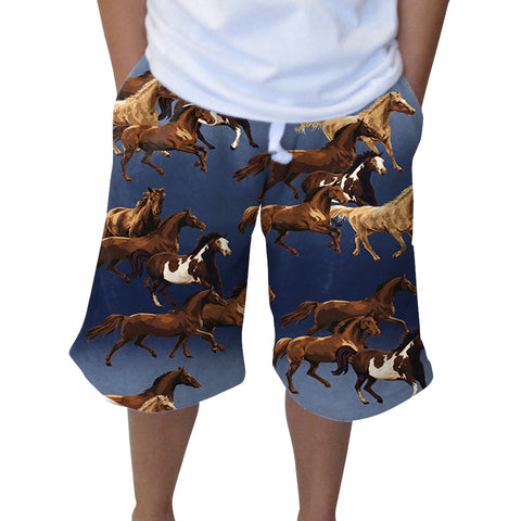 Wild Horses Knee Length Short