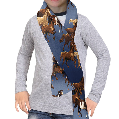 WILD HORSES SCARF - DOUBLE SIDED