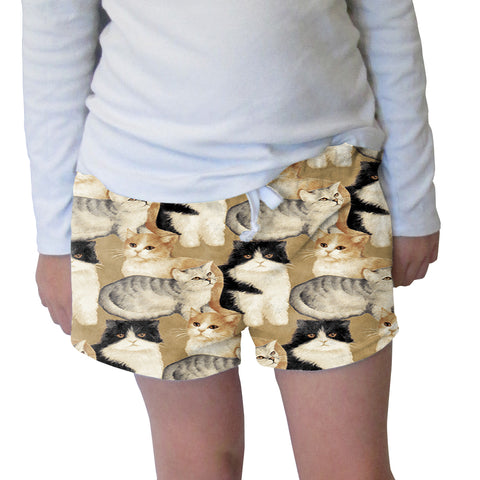 Cat Collage Womens Short Short