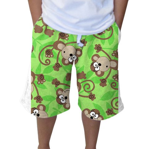Monkey Business Knee Length Short