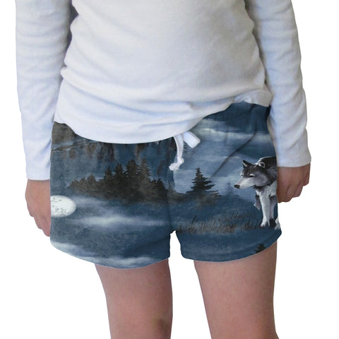 Howling Wolves Womens Short Short