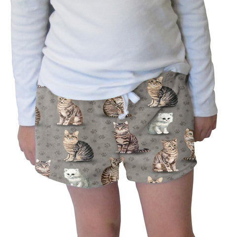 Purrfect Kitties Womens Short Short